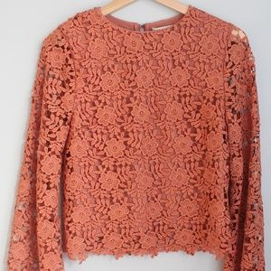 Pink Lace Alice + Olivia Blouse